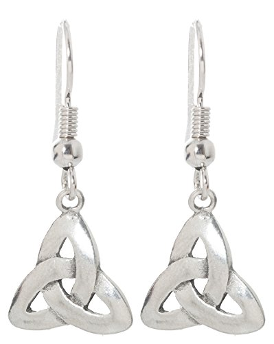 Pewter Irish Earrings Celtic Jewelry (Trinity Knot (Triquetra))