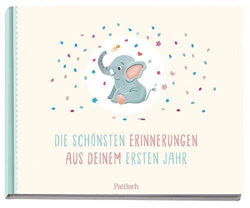 Die schönsten Erinnerungen aus deinem ersten Jahr: Baby-Album. Mit Kuvert. Für einen persönlichen Brief ans Kind
