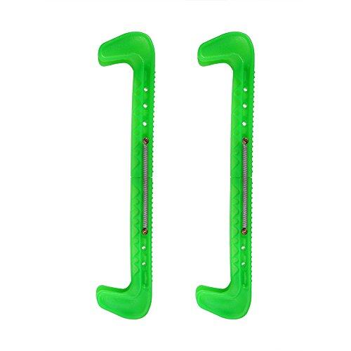VGEBY Protezioni per pattini da ghiaccio, coperture da passeggio per pattini da pattinaggio hockey pattinanti regolabili(Verde)