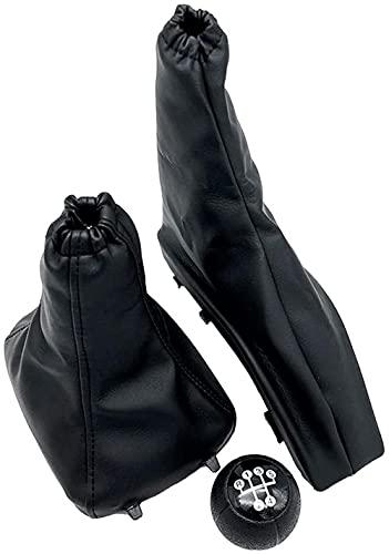 GXZYY Perilla de Cambio de Marchas de Estilo de Coche, Polaina de Freno de Mano de estacionamiento, Cubierta de Maletero, Collar de Maleta, Apto para O/Pel A/stra II GZ/afira A 1998-2010-3pcs