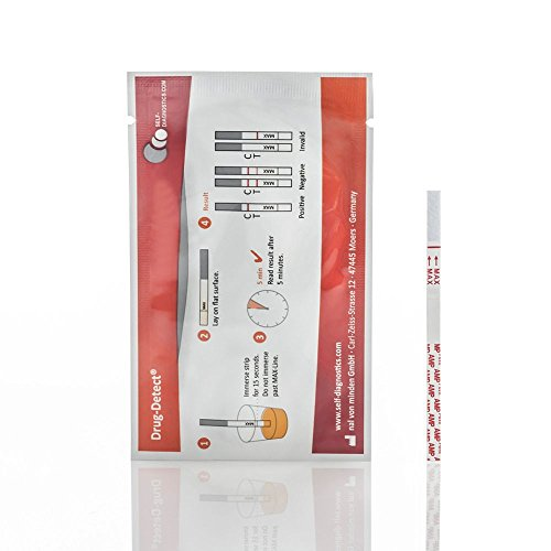 Drogentest Cannabis Marihuana Haschisch THC - Schnelltest Drug-Detect - 5 Teststreifen Cut-off: 25 ng/ml