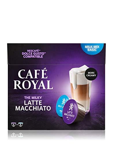 Café Royal Latte Macchiato 48 Nescafé®* Dolce Gusto®* kompatible Kaffeekapseln, 3er Pack (3 x 16 Kapseln)