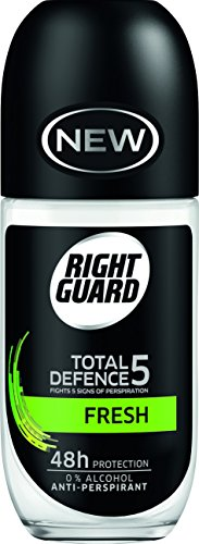 Right Guard Total Defence 5frische Anti-Transpirant Roll On, 50ml, 6Stück