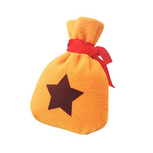 Coslive Animal Crossing Tasche Pentagramm Bell Geldbörse Spiel Cosplay Kostüm Zubehör Gelb Anime Mini Storage Merchandise Wechselgeld Geldbörse