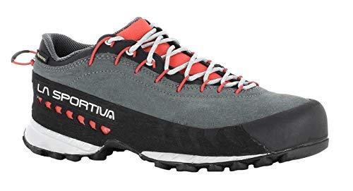 LA SPORTIVA TX4 Woman GTX, Zapatillas de Trekking Mujer, Carbon/Hibiscus, 39.5 EU