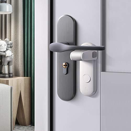 EUDEMON Cerradura de la manija de la puerta de seguridad para niños, fácil de instalar y usar adhesivo 3M VHB, no se requieren herramientas ni taladros (Blanco, 2 Piezas)