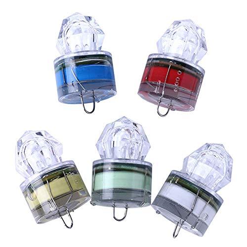 Carretes de Pesca LJR Profundo mar Noche de Pesca Diamante led Intermitente luz/Debajo del Agua atrae la lámpara de señuelo de Cebo de Pescado (Entrega Aleatorio de Color)