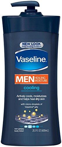 Vaseline Men Healing Moisture Cooling Lotion for Dry Skin for Men, 20.3 Ounce