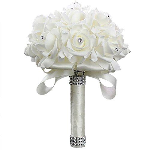 Little finger 1 bouquet da sposa per damigella d'onore fatto a mano con strass artificiali
