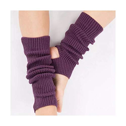 Sceneruo Elastische warme gestreifte Beinstulpen für Damen Latin Dance Beinset für Damen und Kinder
