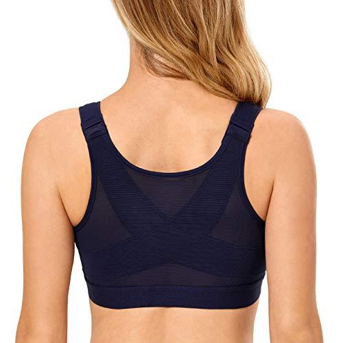 DELIMIRA - Sujetador Corrector de Postura con Soporte de Espalda en X para Mujer Arándano 105C
