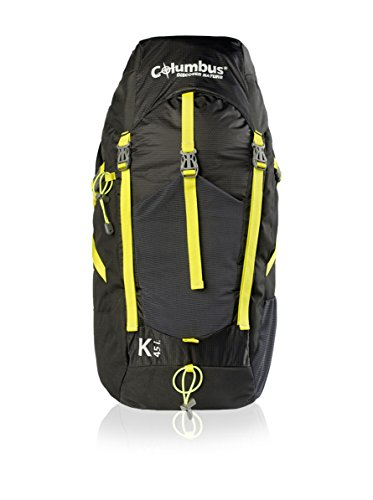 Unbekannt Columbus K 45 Schlafsack, Schwarz/Gelb Neon, One Size