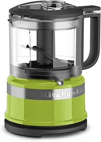 KitchenAid KFC3516GA 3.5 Cup Food Chopper, Green Apple (RENEWED) (CERTIFIED REFURBISHED)