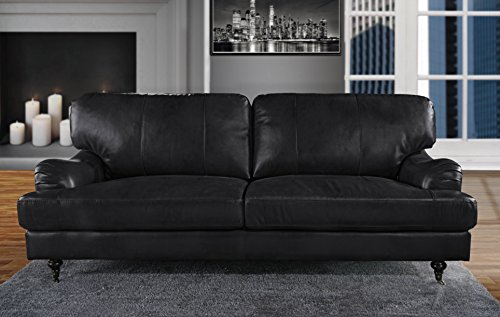 Classic and Traditional Real Leather Sofa Living...