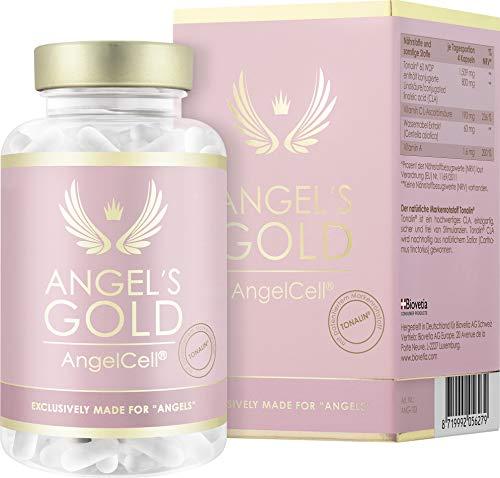 Angel's Gold® AngelCell® studienbasierte 2 Monate Anti Cellulite Kur, mit Tonalin® CLA und Centella, 100% natürlich und vegan gegen Cellulite und Fettpolster, 240 vegane Kapseln