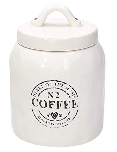 Tognana Kaffeedosedose Dolce Casa Countryside aus Keramik, beige-schwarz im Landhaus Stil, 11 x 16 cm