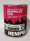 Esmalte antioxidante brillante HEMPALUX DTM NEGRO 4 L.