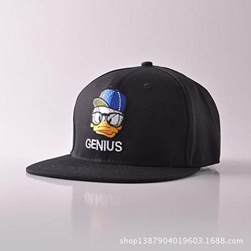 Swooggle Tide Cap Gate Frühling Sommer Cartoon Donald Duck Baseball Hut Männer und Frauen Peaked Cap Sonnenschutz Hip Hop Hüte verstellbar (54-58) Schwarz