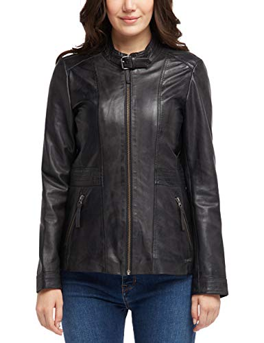 MUSTANG Damen Slim Fit Lederjacke