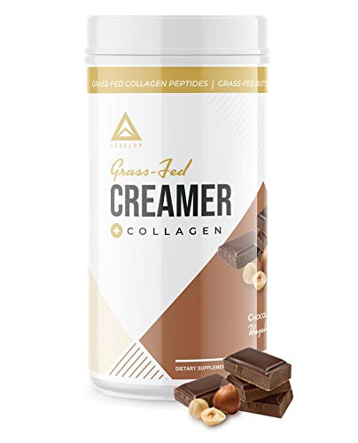 Grass Fed Keto Creamer - Grass Fed Butter - Grass Fed Collagen - Grass Fed Whey - Pure C8 MCT Oil - The Perfect Keto Bomb BPC Creamer (Chocolate Hazelnut 10oz)