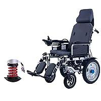 調節可能な背もたれと滑り止め20Ahリチウムイオン電池を備えた車椅子軽量完全横型電動折りたたみ式パワー