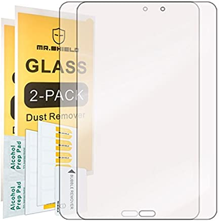 [2-Pack]-Mr.Shield for Samsung Galaxy Tab E 8.0 [Tempered Glass] Screen Protector [0.3mm Ultra Thin 9H Hardness 2.5D Round Edge] with Lifetime Replacement Warranty
