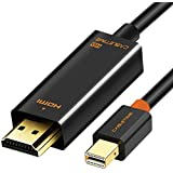 CABLETIME Mini DisplayPort to HDMI 変換 ケーブル 【フルHD1080P対応/1M/保証付き】 Surface Pro/Dock, Mac, MacBook Air/Pro, iMac, ディスプレイ, AV アダプタ対応 Thunderbolt to HDMI 耐久変換ケーブル Mini DP ミニディスプレイポート サンダーボルト (1m, 黒)