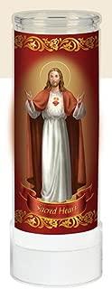Religious Sacred Heart of Jesus Electric Prayer flameless LED Light Adoration Candle (8