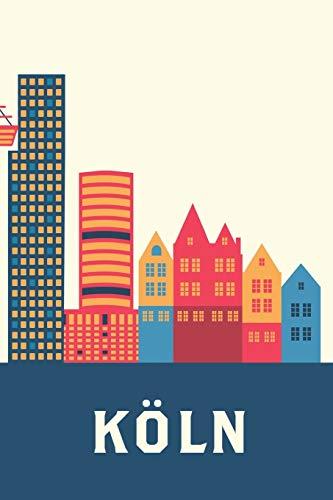 Köln: A5 Tagesplaner Kalender mit Notizbuch Dot Grid Hardcover