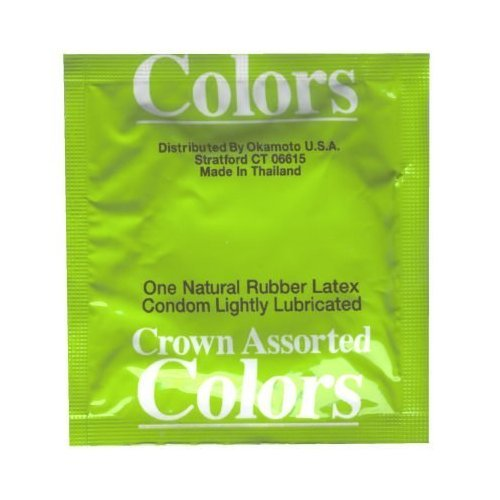OKAMOTO Crown Assorted Colors 72-Count Pack