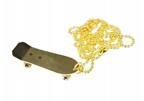 Miniblings Skateboard Kette Halskette 80cm Skater Skaterkette Skaten vergoldet