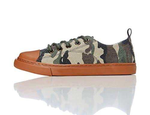 RED WAGON Jungen Flache Sneaker,  Mehrfarbig (CAMO), 23 EU