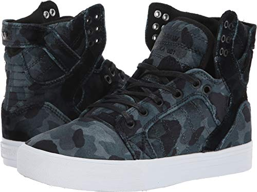 Supra Women's Skytop Black Camo/White 7 B US B (M)