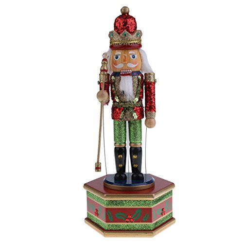 CUTICATE 22 Option Classic Wood Nussknacker Soldat Figuren Weihnachtsspieluhr Home Decor - A