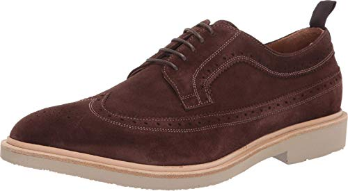 Gordon Rush Men's Shoe Arlo Suede Wingtip Buck. High End Made in Italy Lace-Up with Premium Italian Suede Upper, Leather Lining, and St. Moritz Blowtech EVA Sole. (Dark Brown, 7)