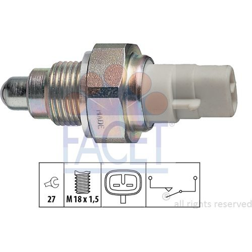 FACET REVERSING Light Switch 7.6111 Compatible with #OEM 8421012040/99761318001/ 99761318000/8421012040/ 8422212010/ 842100K010/ 8421004010/8421052050