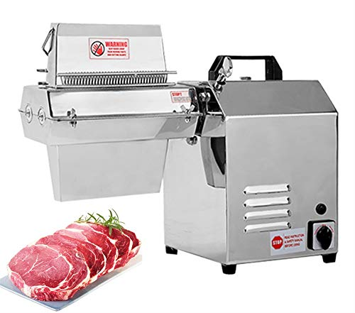 NEWTRY Commercial Electric Meat Tenderizer Machine for Max Width 7inch Meat Stainless Steel Heavy Duty Steak Flatten Kitchen Tool Beef, Turkey, Chicken, Veal, Pork, Fish (110V)