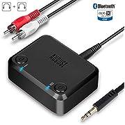 August MR270 - Adaptador Transmisor Bluetooth Dual de Televisiones a Auriculares Bluetooth - Aptx de Baja Latencia, Transmite Audio a Dos Auriculares