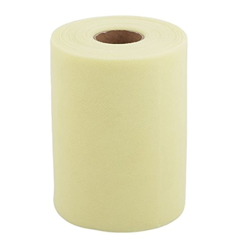uxcell Polyester Feast DIY Tutu Notebook Decor Tulle Spool Roll 6 Inch x 100 Yards Light Yellow