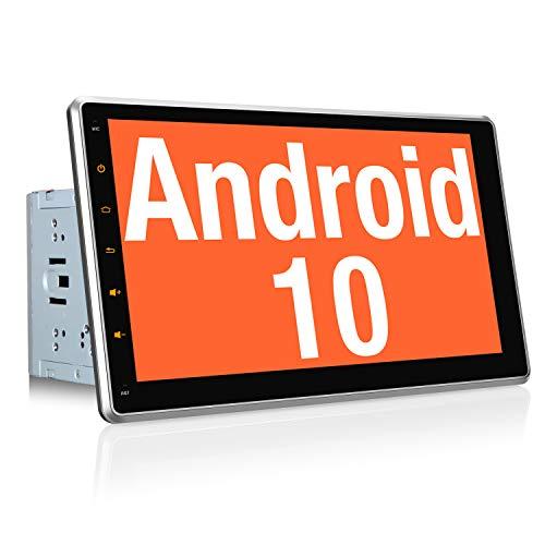 """Vanku Android 10 Autoradio GPS Navegación con 10.1"""" IPS Pantalla Ajustable, 2 DIN Radio de Coche Soporte Bluetooth, Control Volante, WiFi, USB, SD, Mirror-Link, 4G"""