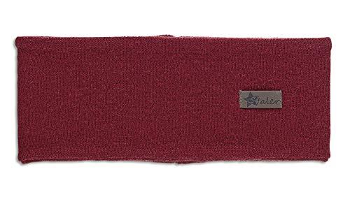 Sterntaler Stirnband für Jungen und Mädchen mit Leder-Aufnäher, Alter: 2-4 Jahre, Größe: 53, Rot (Weinrot)