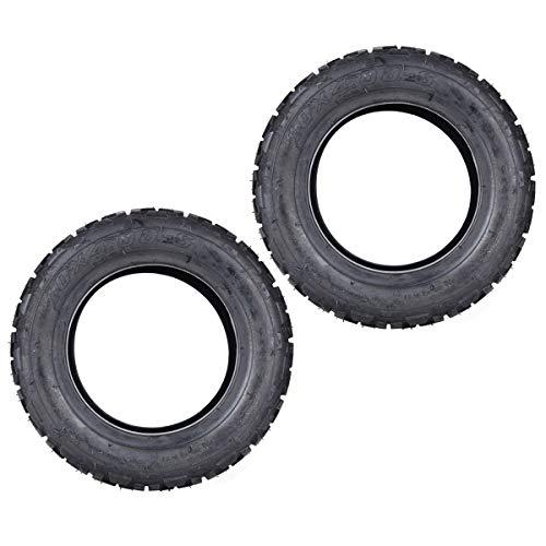 2er Set 10x4.00-6 Schlauchlose Reifen Ersatz für ATV EVO Elektroroller Balance Bike Quad Offroad Fahrzeug 10