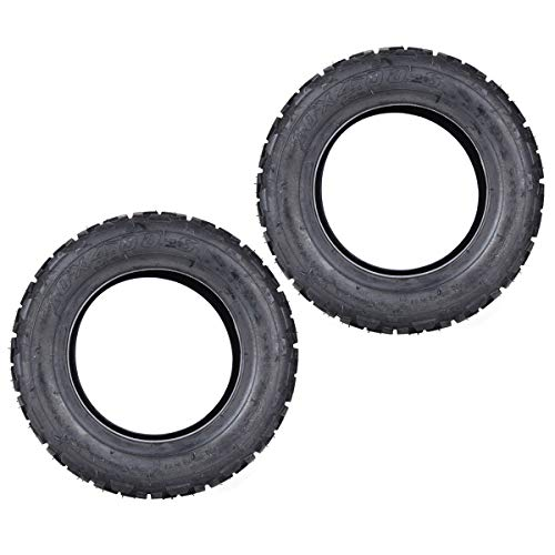 Juego de 2 neumáticos sin cámara de repuesto de 10 x 4.00 – 6 para ATV EVO Scooter Eléctrico Equilibrio Bike Quad Vehículo todoterreno de 10 pulgadas