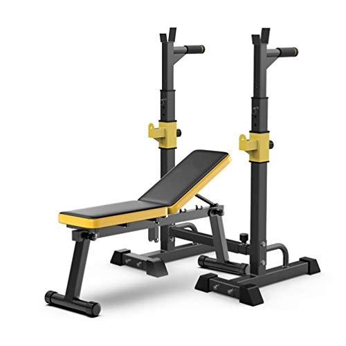 NTWXY Multifunktions Squat-Rack - verstellbar Langhantelständer Gewicht, Heavy Duty Rack Gym, Gewichtheben Haushalts Langhantel Ständer, Maximale Belastung 240 kg Krafttrainingwith Weight Bench