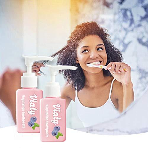Intensive Viaty Zahnpasta Fleckentfernung Whitening Zahnpasta, Hukz 2 Stück Viaty Toothpaste Kampf Zahnfleischbluten Frische Zahncremes Zahnschmelzschutz Zahncreme Zahnaufhellung Kohlezahnpasta (Rosa)