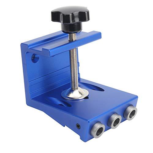 Gabarito de posicionador de furo, gabarito de orifício de liga de alumínio Gabarito de orifício para carpintaria de alta resistência para fábrica, oficina de reparos industriais(blue)