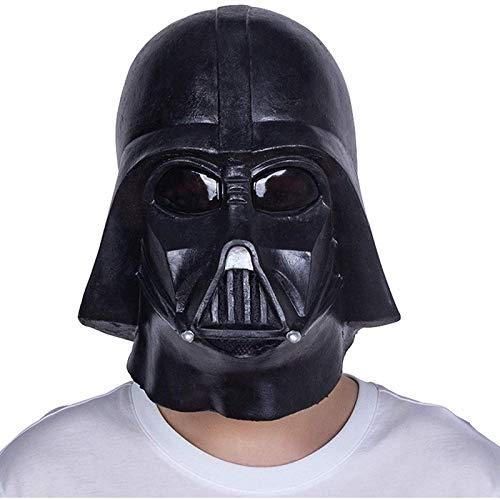Cfxqvw Star Wars Mask Walker Helmet Jedi Full Latex Mask devuelve los Accesorios de Disfraz de coleccionista de Fiesta de Halloween de samuri Negro
