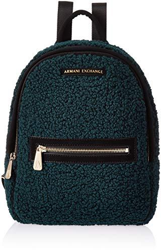 Armani Exchange Damen Backpacks Rucksack, Grün (Grasshopper), 28.0x8.0x24.0 cm