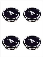 Armertek FM66 2005-2014 Mustang Wheel Center Hub Caps Covers Black Chrome Pony Emblem (4)