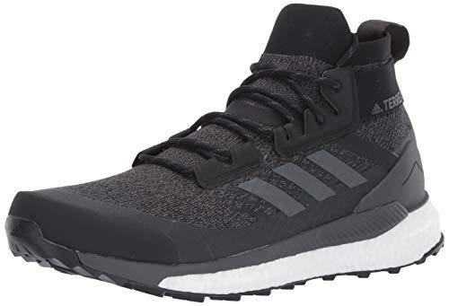 adidas Men's Terrex Free Hiker Hiking Boot, Black/Grey/Orange, 9.5